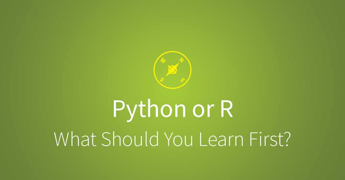 Should you learn Python or R? via udacity.com
