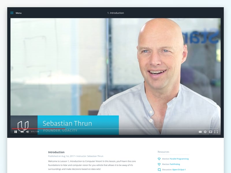 New Udacity Classroom - Concept Viewer