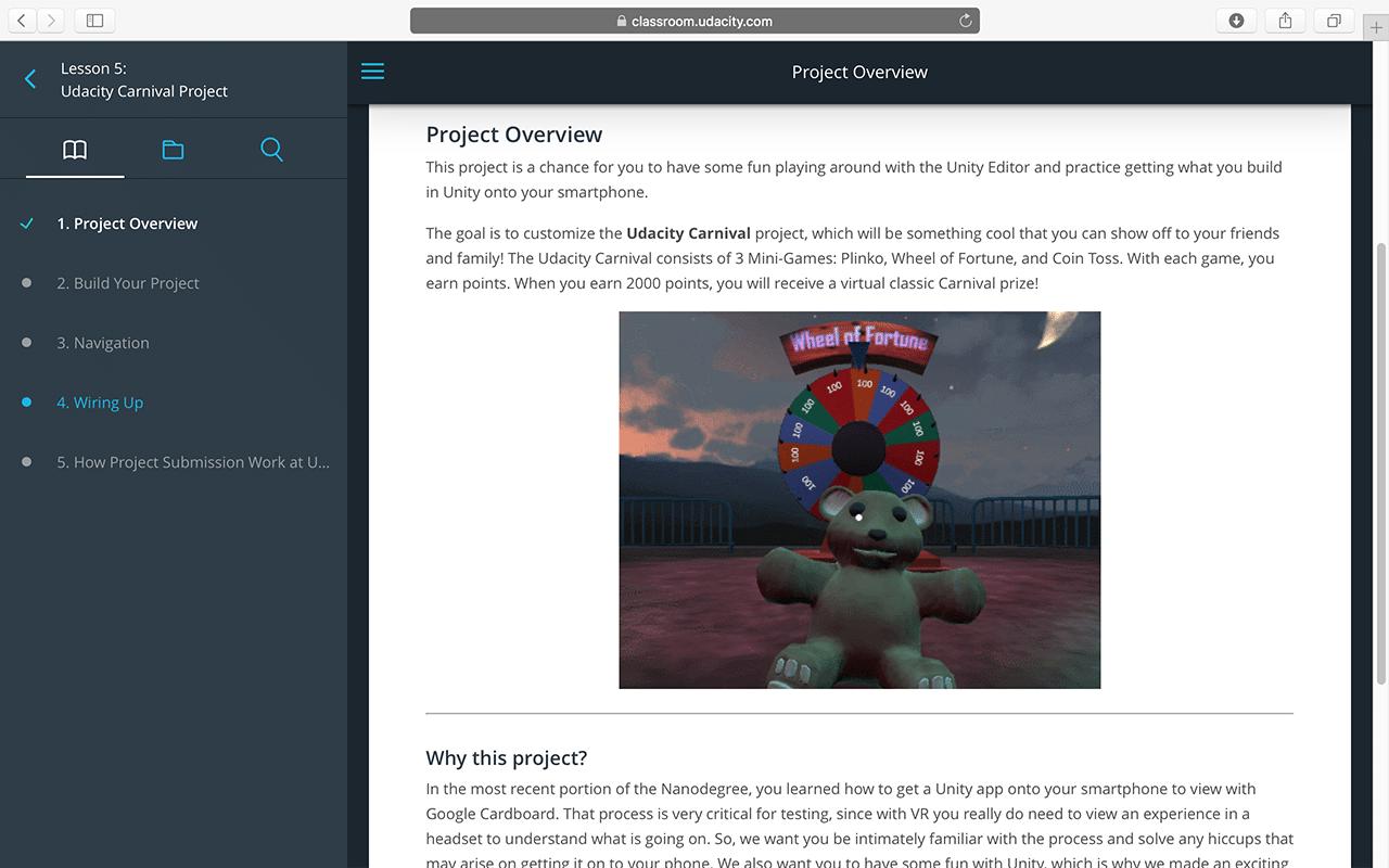 VR Developer Nanodegree Program Classroom - 2
