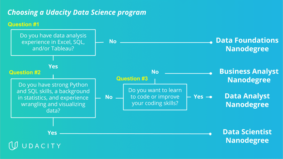 Udacity School of Data Science program paths