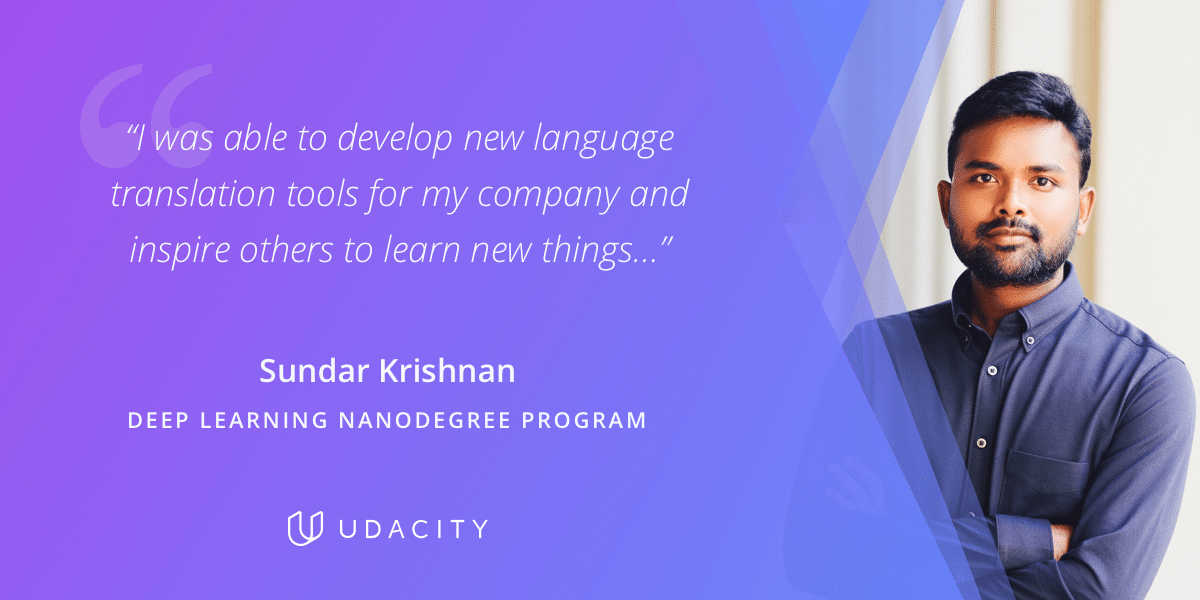 Sundar Krishnan Udacity Deep Learning Nanodegree Program